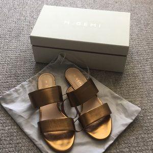 MGemi Bronze Sandals